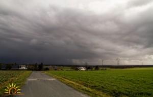 Orage grêligène sur Châteauroux