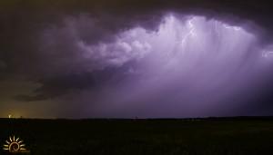 Cellule orageuse dans l'Indre