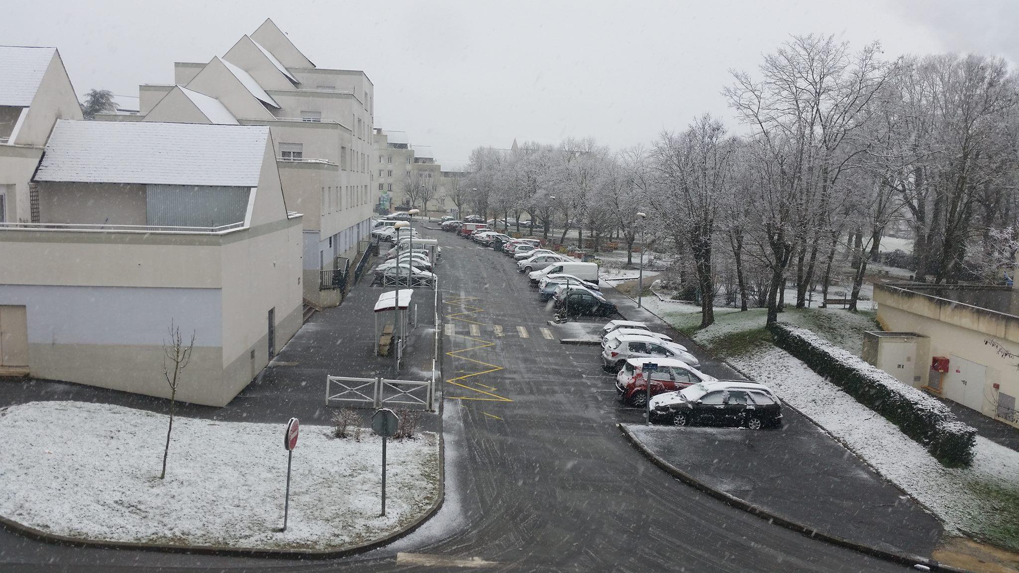 Chute de neige à Amboise