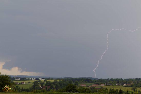 Impact de foudre dans la région de la Châtre (Indre - 36)