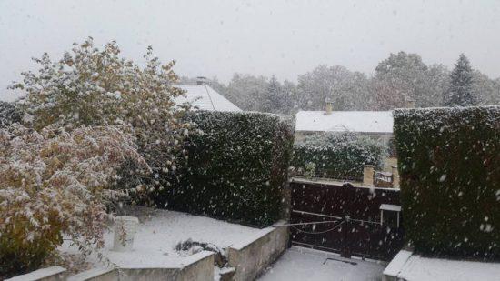 Neige à Malesherbes (photo : Corentin Sabatier).