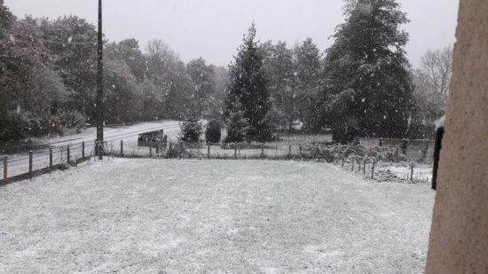 Neige à Vannes sur Cosson (photo : Axelle Lucas)