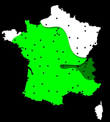 Cartes des risques allergiques liés au pollen de peuplier dans les régions Centre et Centrales - France