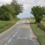 Route après le passage de l'orage dans le secteur de Sancerre - 21/06/2012