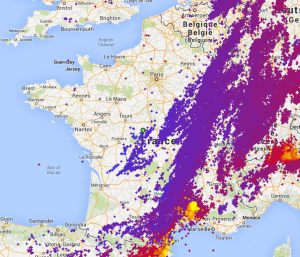 Impacts de foudre en France