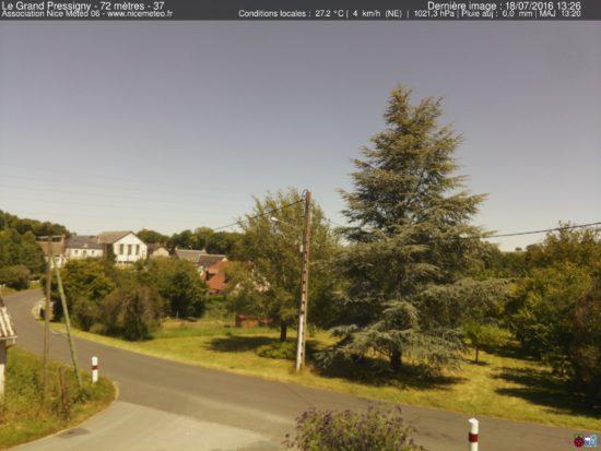 Aperçu de la webcam du Grand Pressigny