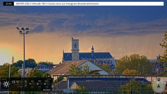 Vue de la webcam de Nevers (58)