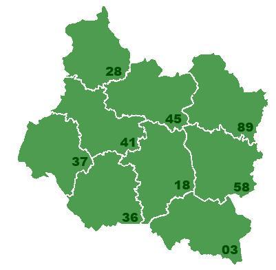 Carte de vigilances météo pour les régions Centre - Val de Loire et Centrales